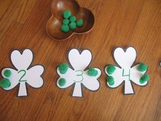 St. Patrick's Day Math Activity / Hands-on Manipulative - Great for Pre-K Complete Preschool Curriculum's St. Patrick's Day theme! Repinned by Pre-K Complete. Follow us on our blog, FB, Twitter, and Google Plus.