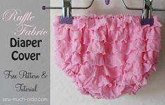 ruffle fabric diaper cover free pattern