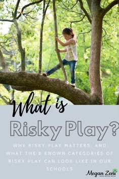 Risky play is a belief that children are capable and competent to make their own decisions about how they use their own bodies in unstructured outdoor play. Outdoor Education, Outdoor Learning, Outdoor Play, Early Education, Childhood Education, Play Based Learning, Learning Through Play, Homeschool Preschool Curriculum, Teaching Kindergarten