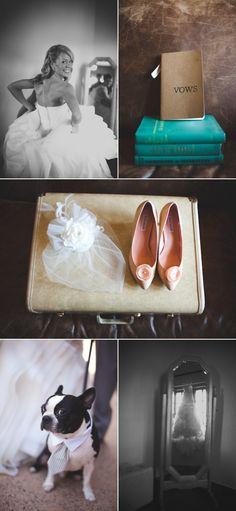 Such pretty peach shoes.   Style Me Pretty