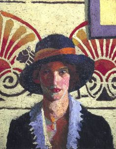 Girl with Palmettes, 1914, Malcolm Drummond