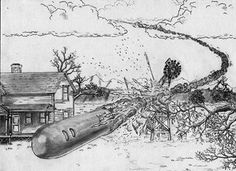 "The Aurora, Texas Crash of 1897. As the story goes, it was on April 17, 1897, that a slow moving space ship crashed into a windmill, bursting into pieces. As the debris was searched through, supposedly the body of a small alien was discovered. Some of the debris also revealed material sketched with a type of hieroglyphic. The town folk gave the poor little creature a proper burial in the local cemetery. ""The pilot was not an inhabitant of this world."""