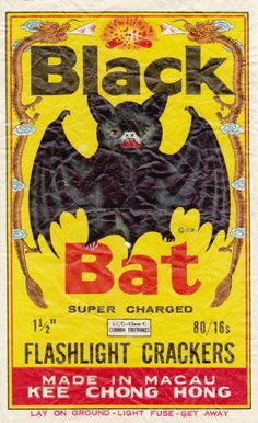 Chinese Firecrackers - An impressive collection of vintage labels pics) Vintage Labels, Vintage Ads, Vintage Posters, Vintage Black, Vintage Packaging, Retro Ads, Vintage Signs, Batgirl, Chinese Firecrackers