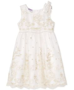 Baby & Toddler Clothing Blueberi Boulevard Toddlers Size 4 White Cotton Dress Halter Ruched Ric Rac