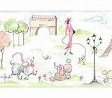 Image detail for -Wallpaper Border Pink Paris French Poodle and Eiffel Tower by York ...