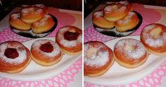 Egy kis fánkot akartunk, nagyon jó lett újra, ez a recept nekem bevált! Doughnut, Desserts, Food, Tailgate Desserts, Deserts, Essen, Postres, Meals, Dessert