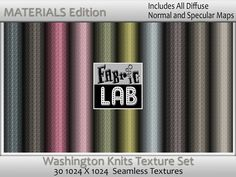 Washington Knits Seamless Texture set Materials Edition With Normal and Specular Maps  Artist Resources by www.fabriclab.org