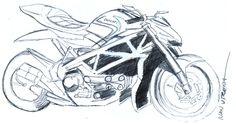 motocicleta en lapicero