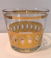 Vintage Culver Ltd Antigua Pattern 22k Gold Ice Bucket Never Used! Mint Cond!