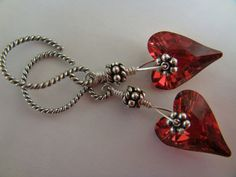 Swarovski crystals wild heart bali antique sterling by bfjulles, $25.00