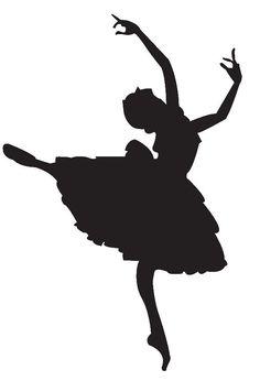 silhouette | ballerina silhouette clipart