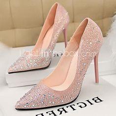 Women's Shoes Pumps Sweet Elegant Glitters Stiletto Heel Comfort / Pointed Toe Heels Office & Career / Dress 2017 - $25.19