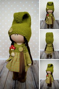Soft Cloth Doll Textile Tilda Green Doll Rag Baby Doll Gift Poupée Muñecas Doll Winter Handmade Doll Nursery Art Doll Child Decor Olga G _____________________________________________________________________________________ Hello, dear visitors! This is handmade cloth doll created