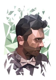 Low Poly Self Portrait using Adobe Illustrator! Now I would really love to learn 3d Studio max or Blender for good, and do some real 3d illustration!