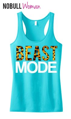 BEAST MODE Leopard on Teal Workout Tank Top, Workout Clothes, Motivational Workout Tank, Workout Shirt, Gym Tank, Gym Clothing, Crossfit on Etsy, $24.99