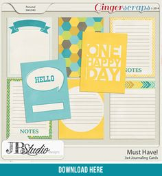 FREE Must Have Journal Cards By Just Because Studio [ (registered users of the GingerScraps forum) ]