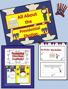 All About the Presidential Election!Booklet, Craftivity & Slideshow product from Engaging-Lessons on TeachersNotebook.com