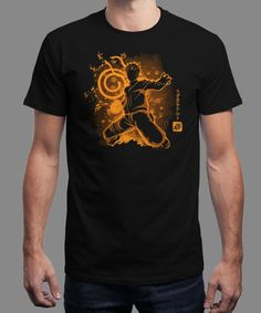 """The Jinchuriki"" is today's £9/€11/$12 tee for 24 hours only on www.Qwertee.com Pin this for a chance to win a FREE TEE this weekend. Follow us on pinterest.com/qwertee for a second! Thanks:)"