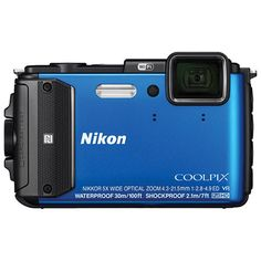 Nikon COOLPIX AW130 Waterproof/Shockproof/Wi-Fi/GPS 16.0MP 5x Optical Zoom Digital Camera - Blue : Point and Shoot Cameras - Best Buy Canada