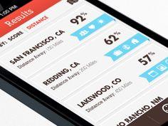 List View - Mobile app interface UI UX