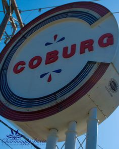 Coburg Dairy Sign Charleston SC   signed color by CharminglyDixie, $30.00