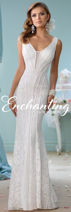Enchanting by Mon Cheri Spring 2016 ~Style No. 116138 #laceweddingdress