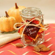 Wedding Favors - Bridal Shower Favors - Glass Favor Jar #diy #wedding #favors
