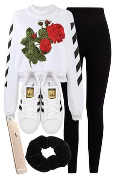 """Sin título #11997"" by vany-alvarado ❤ liked on Polyvore featuring Pepper & Mayne, Off-White and adidas Originals"