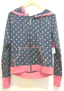 Steve Madden French Terry Zip Up Hoodie Womens Active Wear Size Small Jacket | eBay