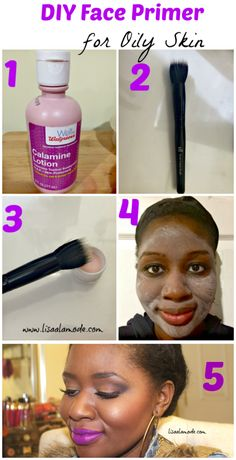DIY Face Primer for Oily Skin: Calamine Lotion DIY Face Primer for Oily Skin: Calamine Lotion – Lisa a la mode Organic Skin Care For best products for combPrimers for Oily Skin Tha Too Faced Primer, Oily Skin Remedy, Oily Skin Care, Skin Care Remedies, Oily Skin Makeup, Oily Hair, Dry Skin, Skin Tips, Skin Care Tips