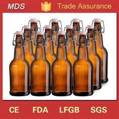 Check out this product on Alibaba.com App:Wholesale custom amber beer glass brewing bottle with clip lid https://m.alibaba.com/muAjaq