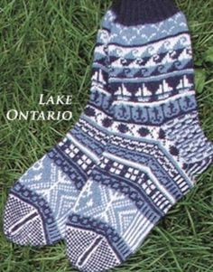 Day Trips Lake Ontario Detail - not free - Needle Beetle Knitting Socks, Hand Knitting, Knitting Patterns, Knit Socks, Boot Toppers, Day Trips, Slippers, Pairs, Beetle