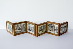Margaret Suchland, Alchemy • Altered Found Object. Early 20th century photographic contact printing frames with collage and etchings.