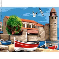 Canevas pénélope - Collioure - Margot de Paris