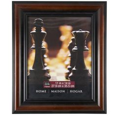 <div>Display a treasured photograph or artwork in this wall frame. The classic brown frame has b...