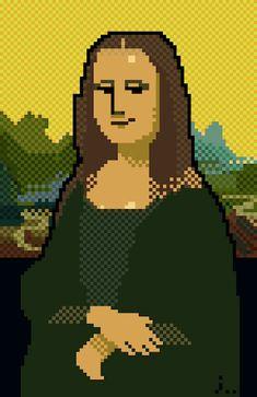 "Pixel version of ""Mona Lisa"" - art by Jaebum Joo, via abduzeedo"