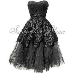VICTORIAN GOTHIC DRESSES ($91) ❤ liked on Polyvore featuring dresses, vestidos, black, short dresses, victorian dress, black mini dress, gothic victorian dress and black goth dress