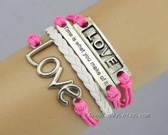 BraceletsCouple Bracelet leatherleather braceletLove by goodlucky, $10.29