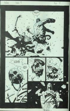 Hellboy Issue 4 Pg 18 Mike Mignola Comic Art