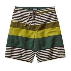 Patagonia Men's Wavefarer® Board Shorts - 21'' - Fitz Stripe: Willow Herb Green (FWHG)