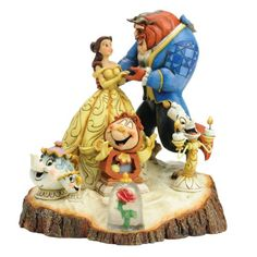 Enesco Disney Tradition - Figurilla de Bella y la Bestia, de resina, altura de 19 cm, multicolor