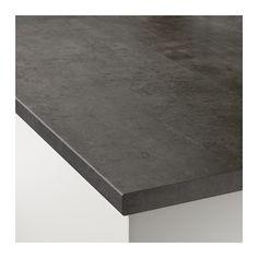 EKBACKEN Countertop, concrete effect concrete effect 98x1 1/8