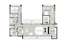 U Shaped House Plans With Courtyard u-shaped house plans with pool in the middle | courtyard