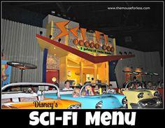Sci-Fi Dine In Theater Restaurant Menu at Disney's Hollywood Studios #DisneyDining #WDW #passporter