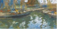 "Charles Henry Fromuth -"" Boats At Rest, November Morning"""