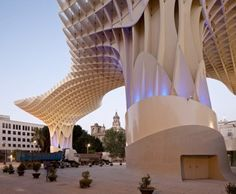 Slice form building canopy