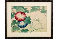 Japanese Block Print, Flowers & Cricket on OneKingsLane.com
