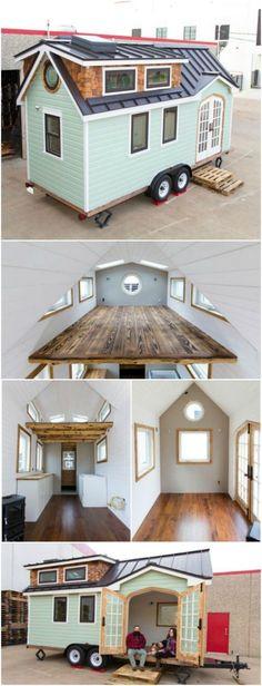 Das Haus ist nur 50 m2 groß, aber es ist praktisch in jedem Detail perfekt.