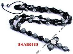 Black Disco Ball Necklace Jewelry Findings with Pendant