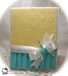 Love the embossed background! Could create that with some of these make your own embossing tutorials.